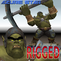 3d max rigged orc