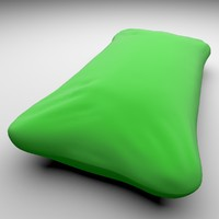 3d blend simple pillow
