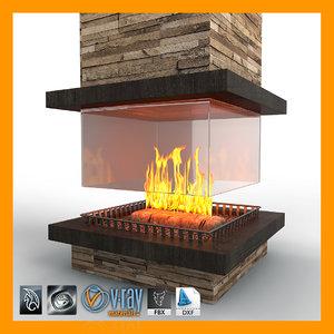 fireplace 02 obj