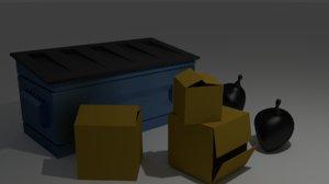 3d 3ds garbage trash assets bag