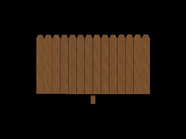 privacy fence panel 3d model