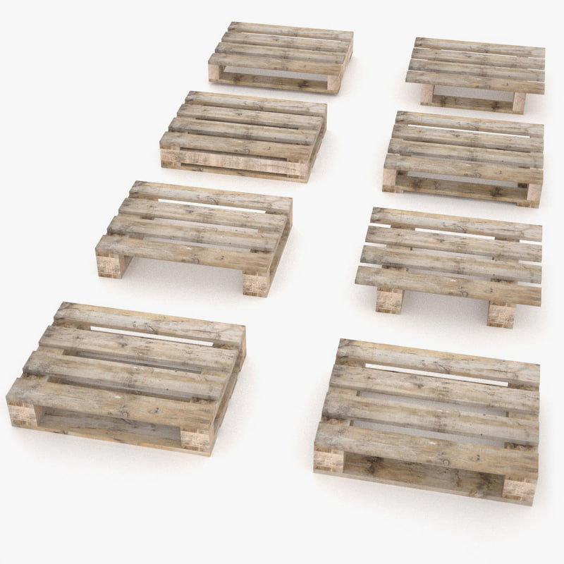 3d model 4 2 ways pallets