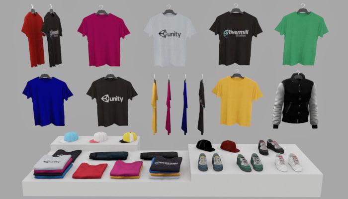 3d clothes pack model
