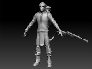 steampunk character 3d ma