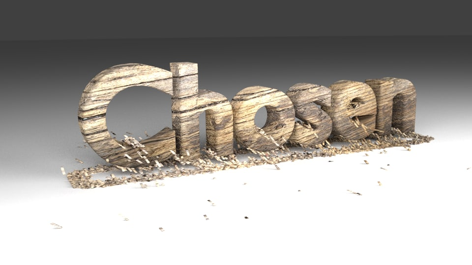 3d model text animation