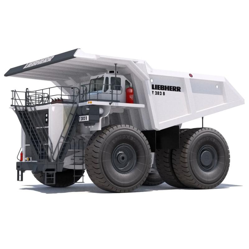 dump truck liebherr t282b 3d model
