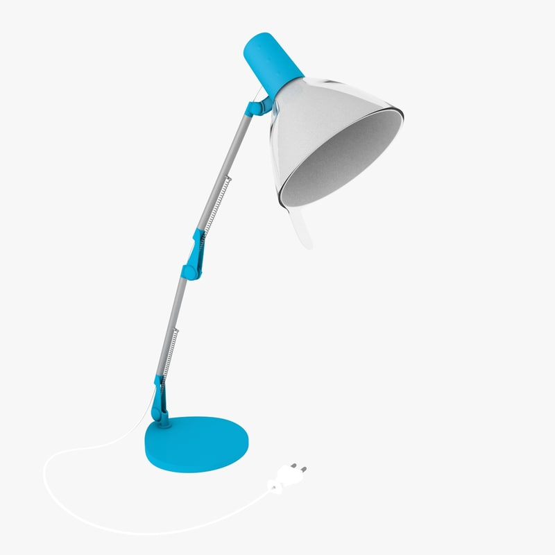 3d blue office lamp