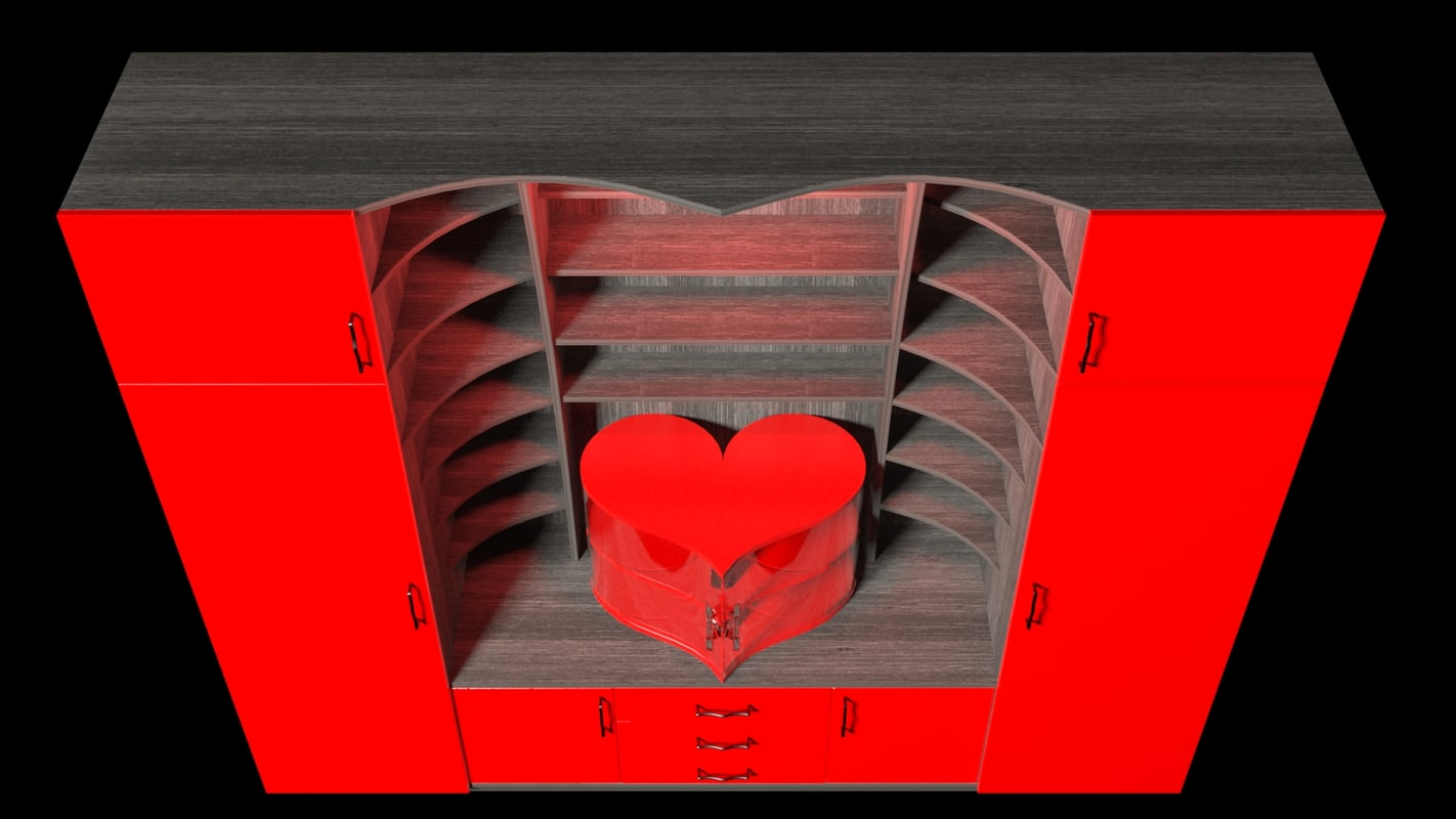 free cabinet heart 3d model