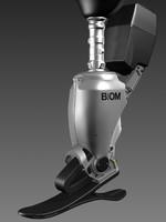 3d prosthetic leg model