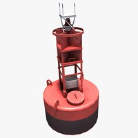 3d navigational buoy model
