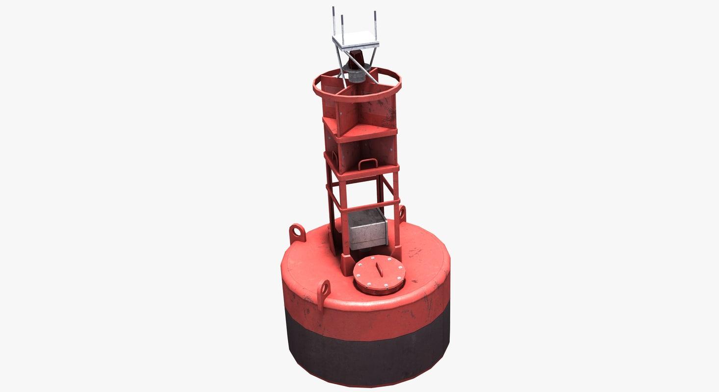 3d navigational buoy model