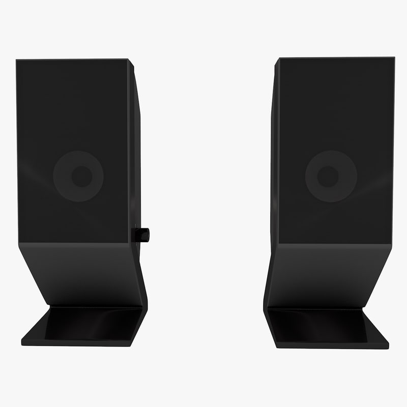 speakers music 3d obj
