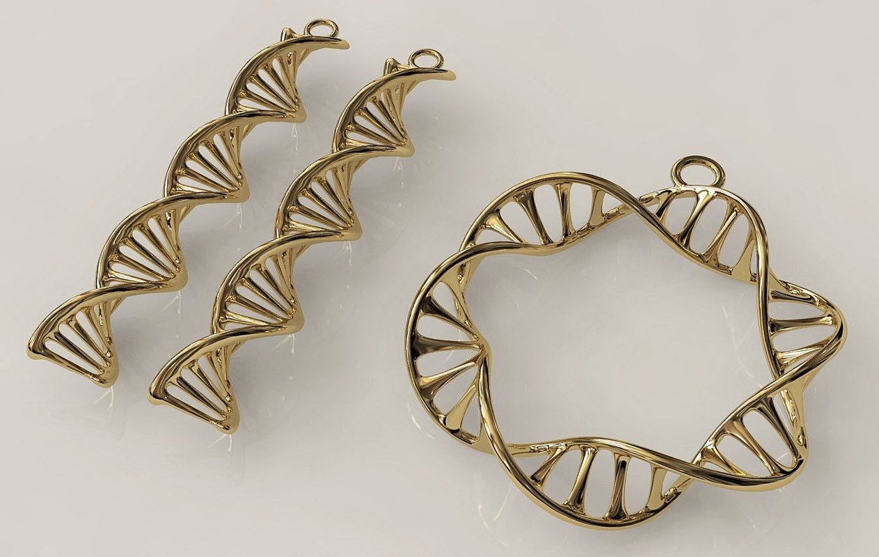 3d model dna double jewelry set