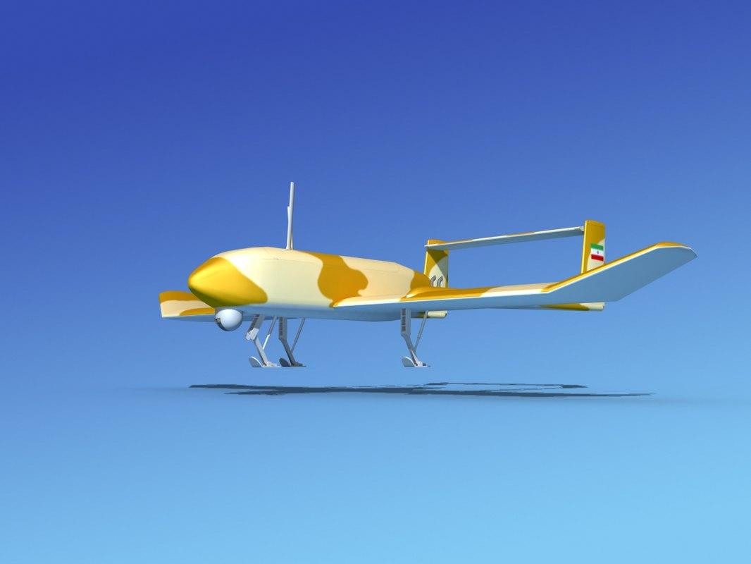 mohajer uav drone 3d model