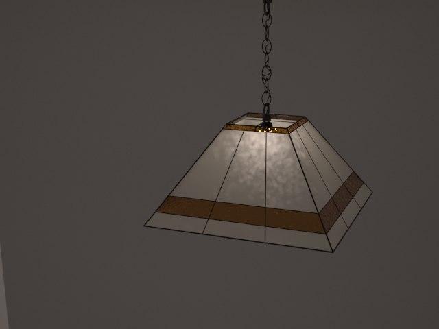 3dsmax flat tiffany lamp