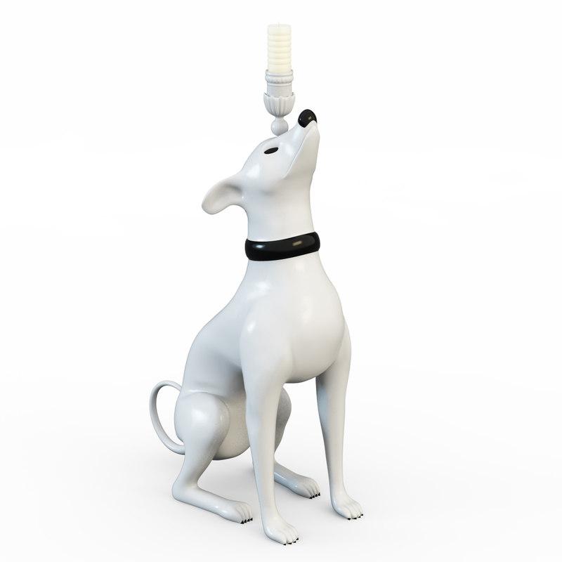 3d model dog candles
