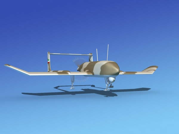 mohajer uav drone 3d dxf
