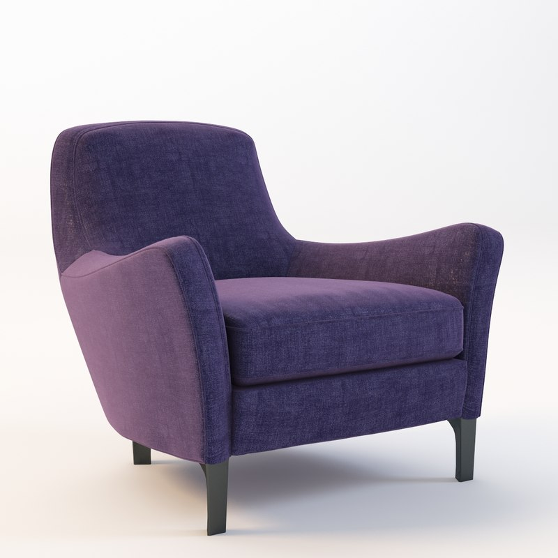 3d model minotti denny armchair