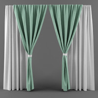 curtain fabric modeled 3d max