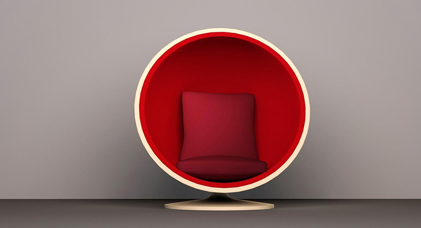 3d model egg style chair
