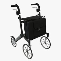 3d outdoor rollator