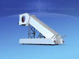 airport stairs 3d model
