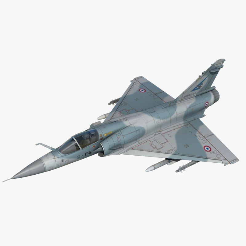 mirage 2000c fighter jet 3d max
