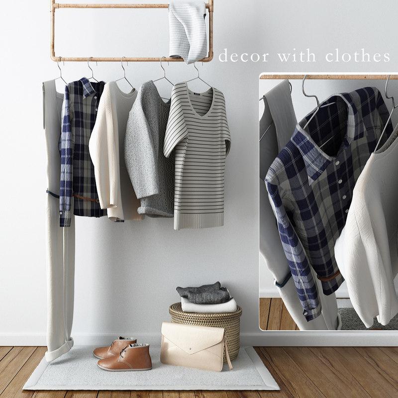 3d clothing decor model