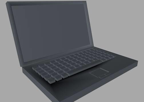 3d model laptop dae