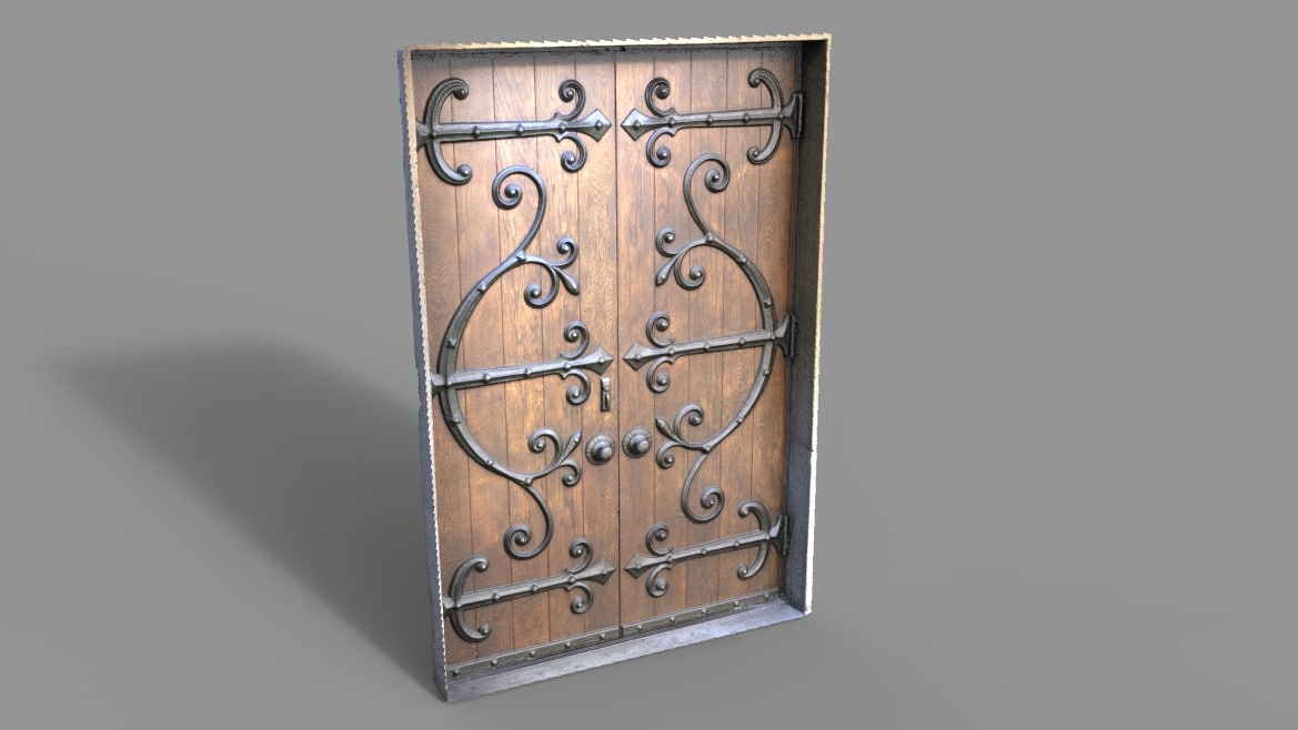 maya door wrought iron
