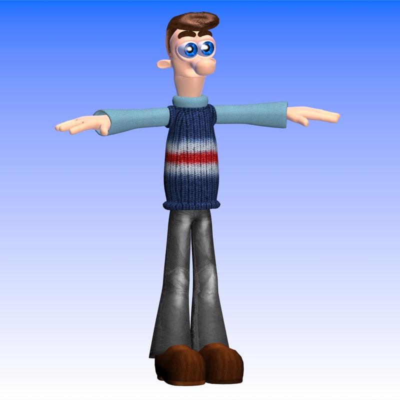 3dsmax character woody