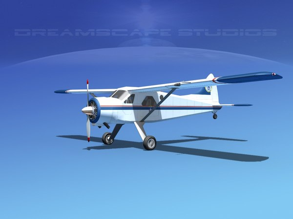 3d dehavilland beaver civil air model