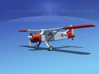 dehavilland beaver 3d model