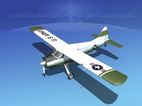 3d dehavilland beaver army model