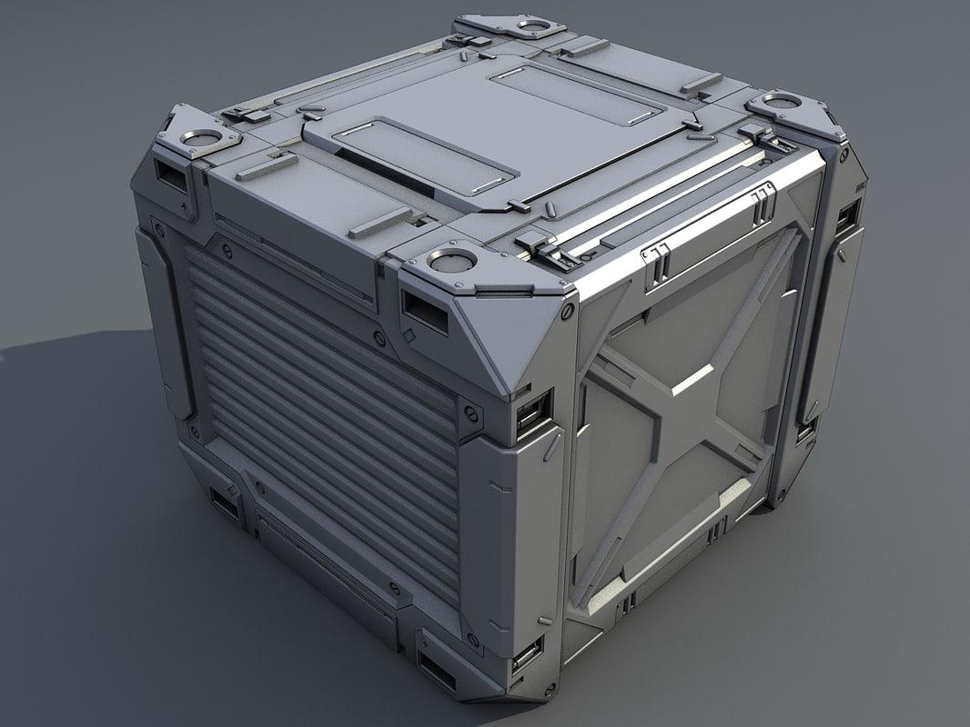 3d max cargo container
