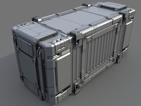 3d cargo container model