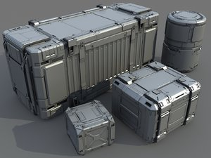 3d model science container