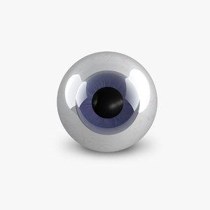cartoon eyeball 3d c4d