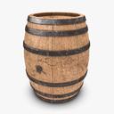 wooden barrel 3D models