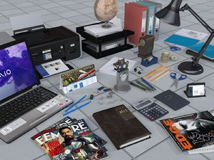 laptop office 3d model