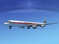 douglas dc-8 airliners 3d 3ds