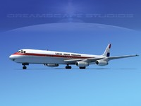 3d model of douglas dc-8