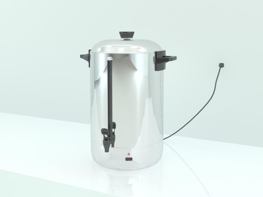 3ds max hot water percolator
