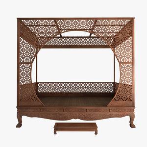 canopy bed 3d max