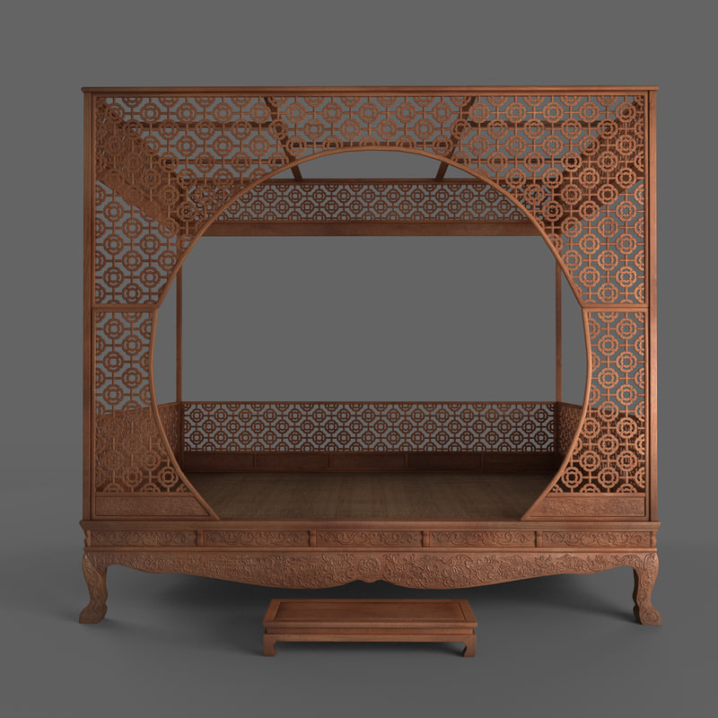 canopy bed 3d max