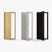 3d interior door wooden -