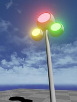 modern trafficlight 3d model