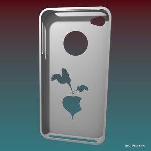 3d iphone 4 case model