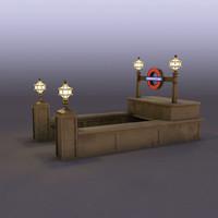 subway entrance 3d fbx