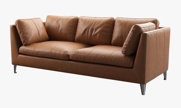 3d model ikea stockholm sofa